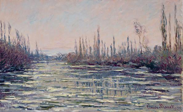 Claude Monet, Eisgang bei Vetheuil / Floating ice near Vetheuil (1882)