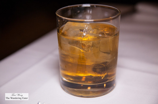 Boucherie Old Fashioned - El Jmador Angejo, Old Forester Bourbon, Plum, Lavender and Lemon Oil