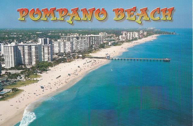 Vue aérienne de Pompano Beach, Floride