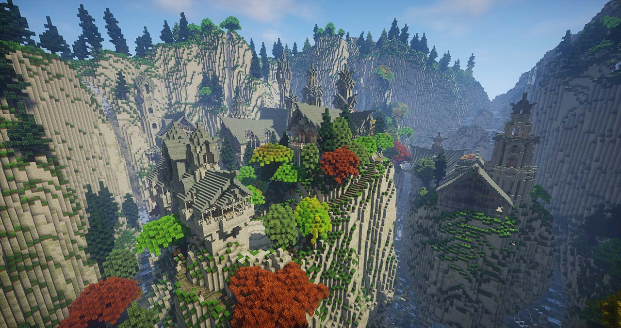 Minecraft Middle Earth By @mcmiddleearth: Rivendell - Rivendell (House of Elrond) – Elven Town Where Fellowship Of The Ring Has Started