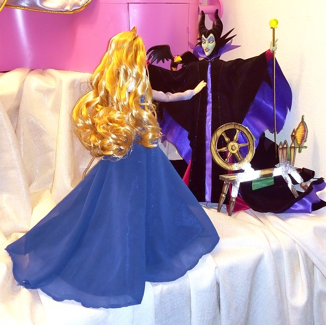 My next doll display! This time is Sleeping Beauty. I have loved this movie since I was little so this display went through several changes before I decided on exactly how to have it.... I still might change something. But I'm so happy! #disneydolls #disn