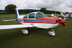 G-TYGA American Aviation AA-5B [1161] Popham 081017
