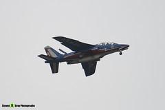 E41 F-TERH 9 - E41 - Patrouille de France - French Air Force - Dassault-Dornier Alpha Jet E - RIAT 2008 Fairford - 070711 - Steven Gray - IMG_6337