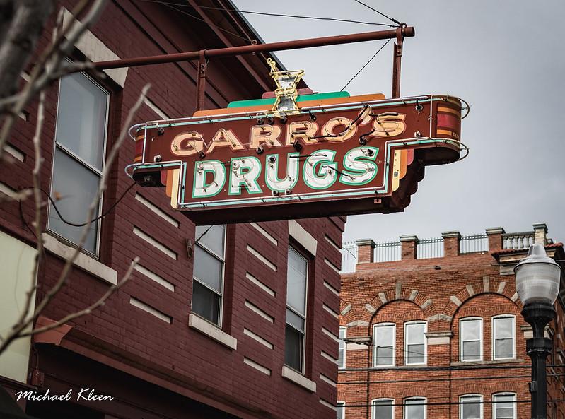 Garro's Drugs Neon Sign