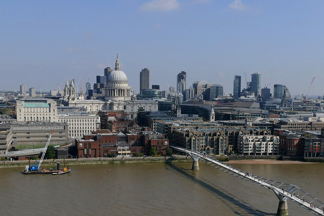 St Pauls cathedral and Millennium bridge