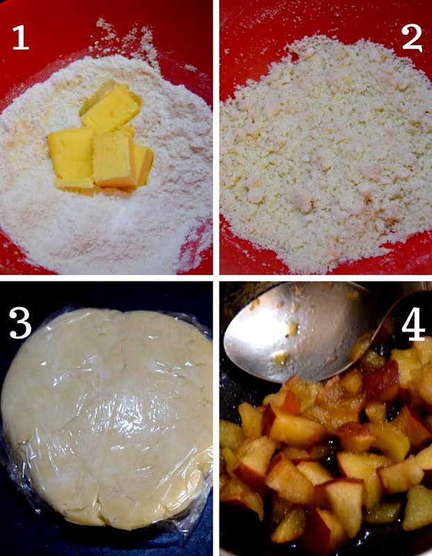 Apple Pie Recipe Flour Dough and Stuffing