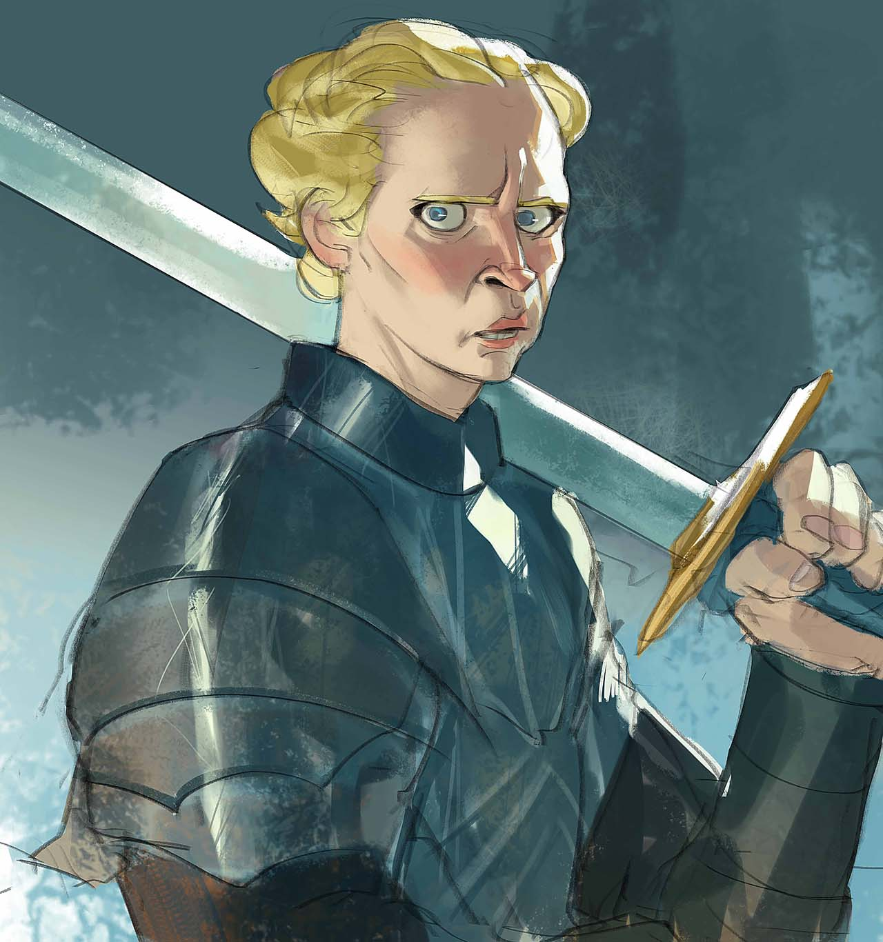 Artist Creates Unique Character Arts From Game Of Thrones – Brienne Of Tarth Character Art By Ramón Nuñez