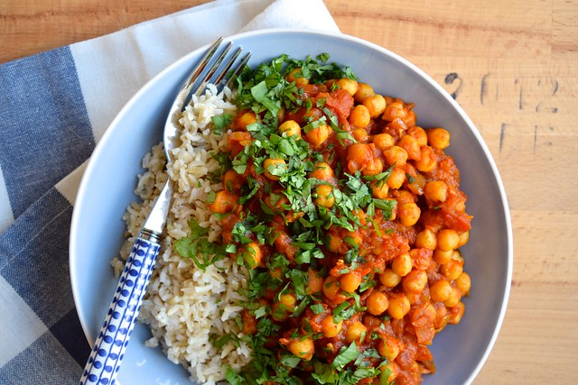 Vegan Chickpea Tikka Masala #vegan #indian #chickpea #curry #tikkamasala