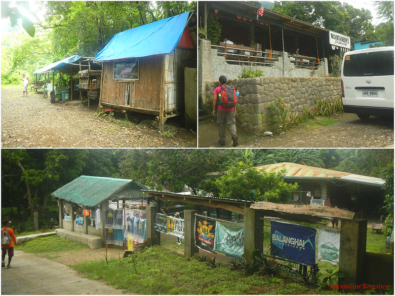 Houses and shops along the road to Mt. Maculot