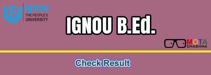 ignou bed result