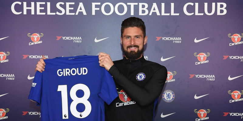 Chelsea menandatangani Giroud dari Arsenal sebesar 18 juta Poundsterling