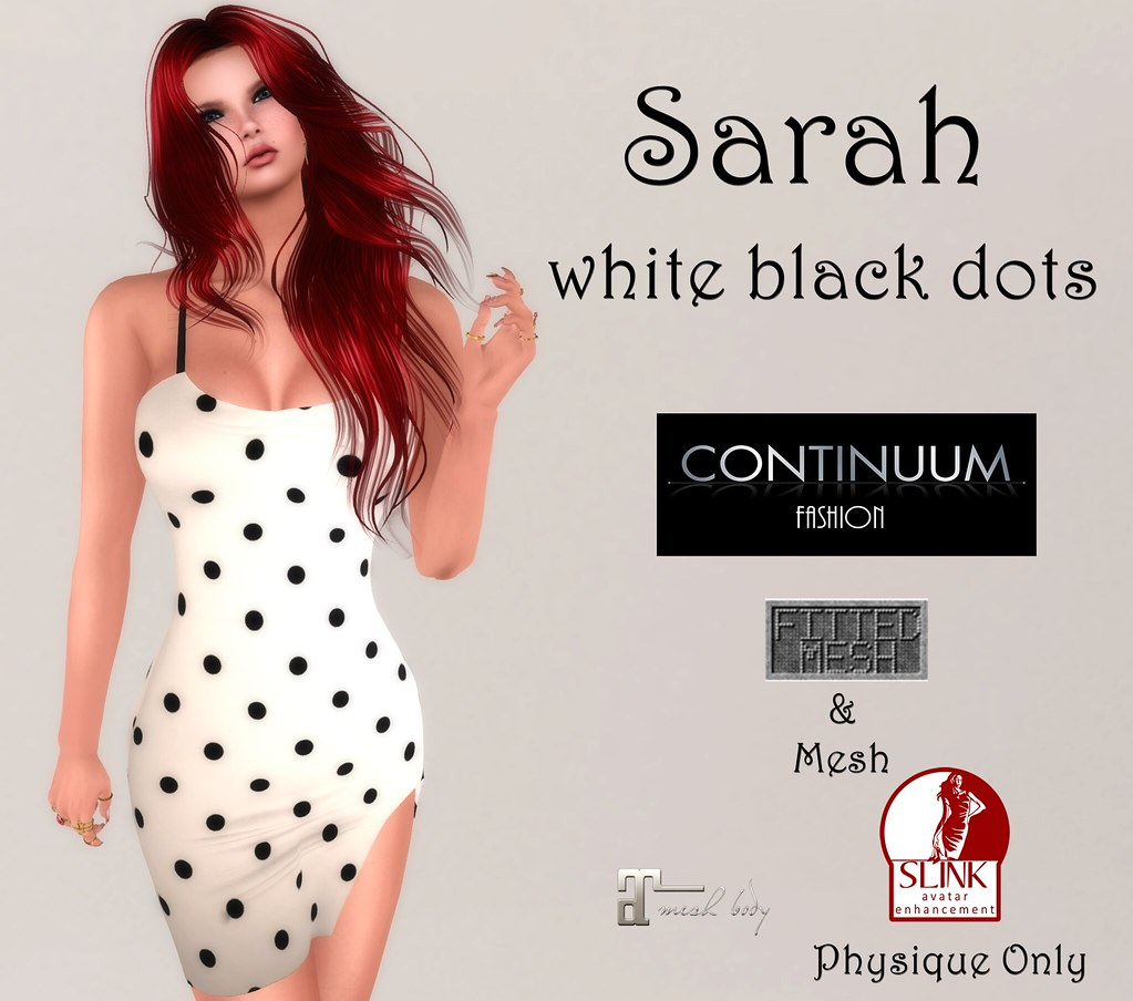 Continuum Sarah white black dots GIFT