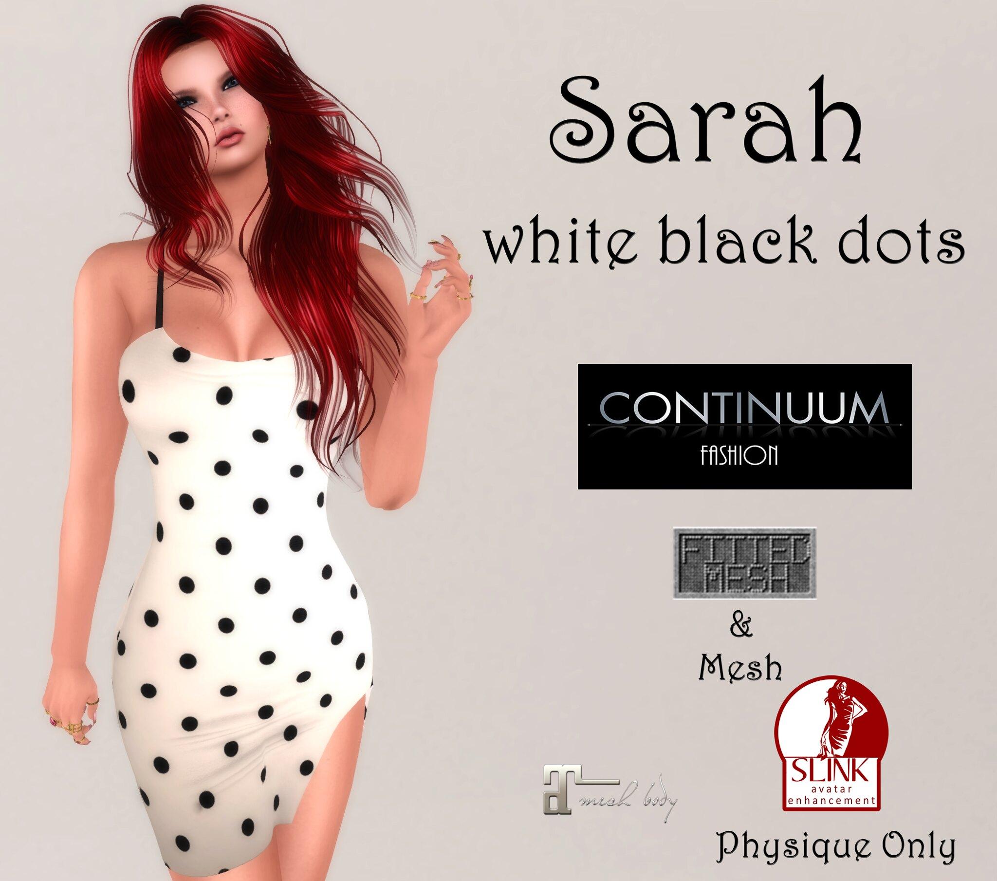 Continuum Sarah white black dots GIFT