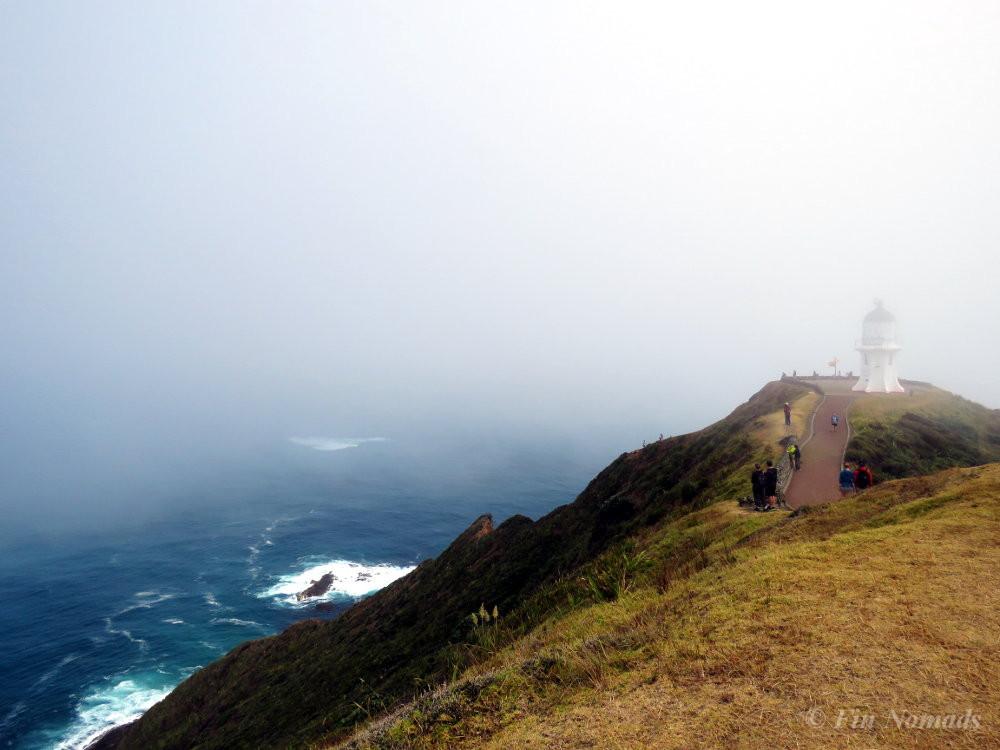 Cape Reinga lighthouse fog