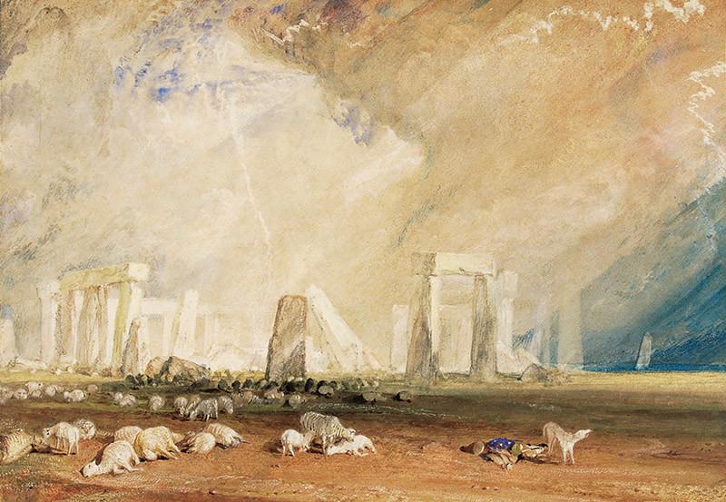 ターナー《ストーンヘンジ・ウィルトシャー》(1827-28年・ソールズベリー   博物館)On loan from The Salisbury Museum, England