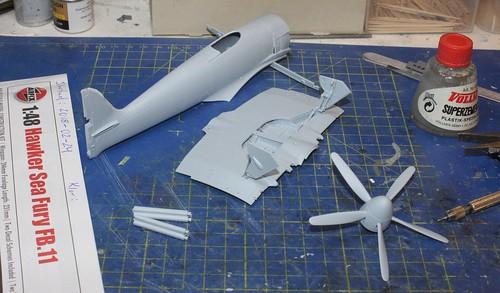 Hawker Sea Fury FB.11, Airfix 1/48 25670750077_ec2734f4f2