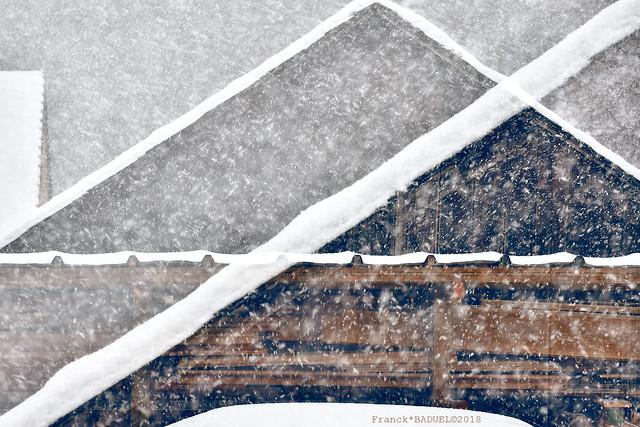 White Lines & Snow Flakes