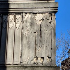 Saints above a cinema. (And a lovely sunny Saturday. Feels good not to be wrapped up to my nose outdoors. Bring on Spring!) #london