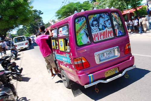 Wacky public transport in eastern Indonesia. From A Geek in Indonesia: Discover the Land of Komodo Dragons, Balinese Healers, and Dangdut Music
