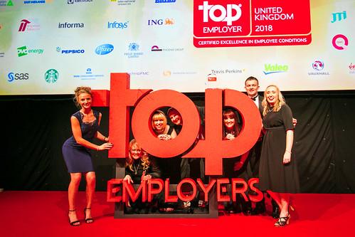 Top Employers UK Certification Dinner 2018