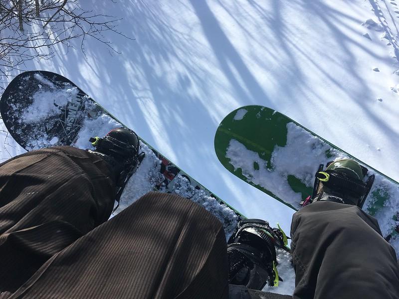 Snowboarding in kimono