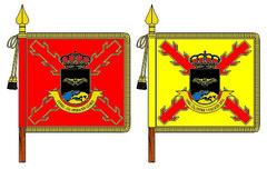 Banderines de la 'Unidad de Guerra Electrónica Estratégica de Cobertura Global'