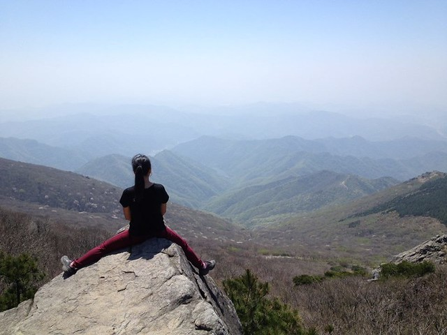 Hiking in Mudeung Mountain while I live in Gwangju Korea