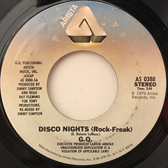 G.Q.:DISCO NIGHTS(ROCK-FREAK)(LABEL SIDE-A)