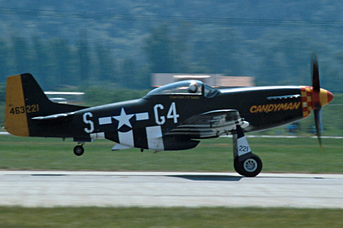 North American P-51D Mustang at the 1986 Sion Air Show