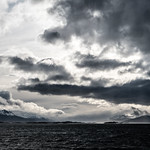 23. November 2017 - 23:05 - Beagle Channel, Chile on the left, Argentina to the right and Ushuaia ahead