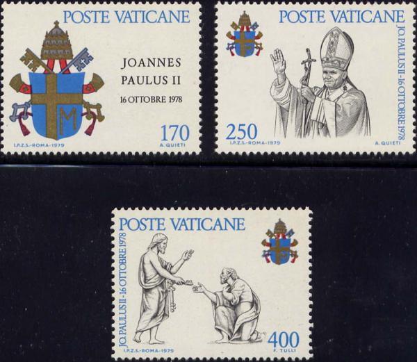 Známky Vatikán 1979 Pápež Ján Pavol II., nerazítkovaná séria