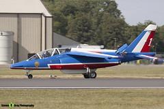 E130 1 F-TERP - E130 - Patrouille de France - French Air Force - Dassault-Dornier Alpha Jet E - RIAT 2010 Fairford - Steven Gray - IMG_9776