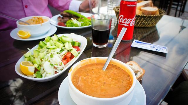 Roadside lunch; get mercimek or fasulye if you can!