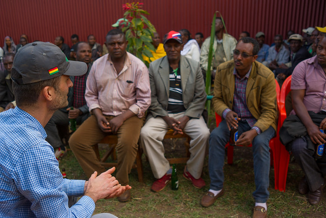 Peter got to talk organic practices with some of the farmers