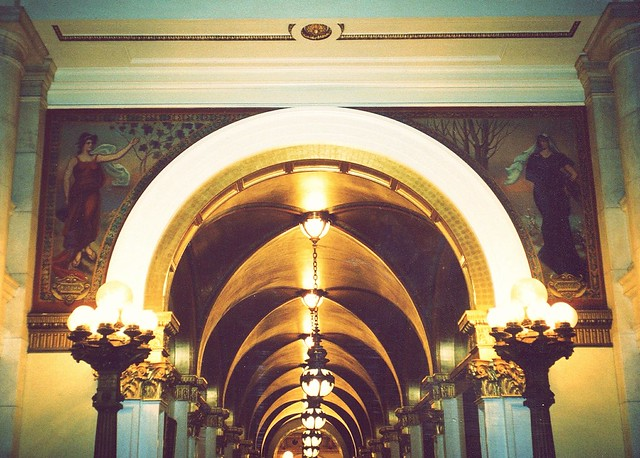 Harrisburg Pennsylvania - Pennsylvania State Capitol - Interior Hallway Mural