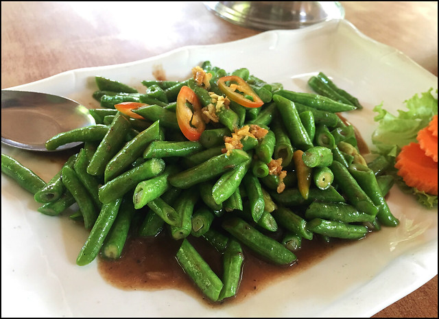 Fried Long Beans with Shrimp Paste