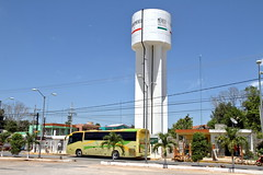 The bus and the water tower