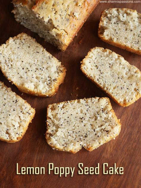 Moist Lemon Poppy Seeds Cake Recipe Eggless Lemon Poppy Seeds Cake