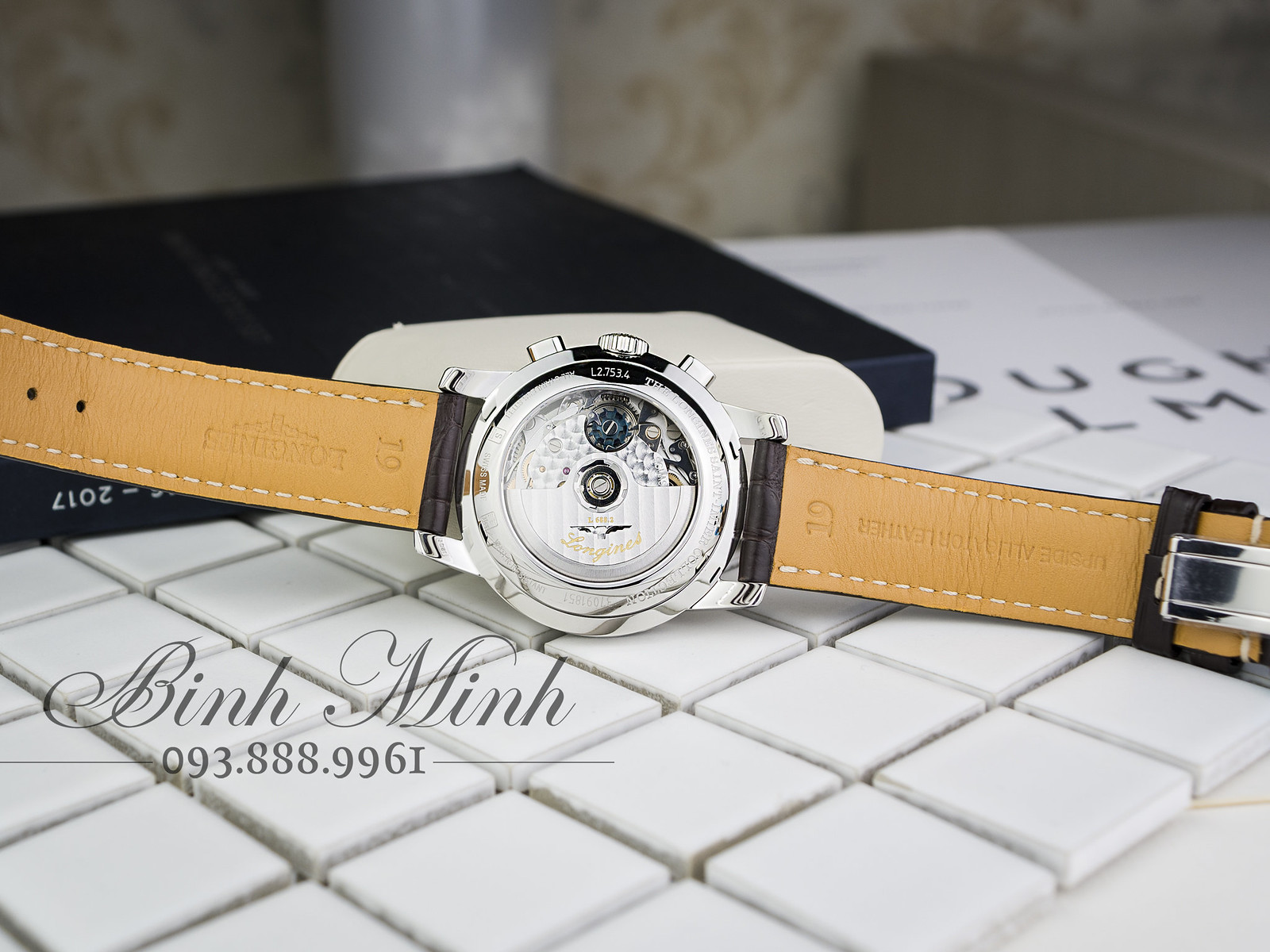 Đồng hồ Longines Saint Imier Chronograph máy Automatic mới 100%, đủ hộp sổ thẻ.
