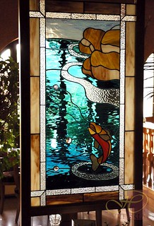 skleněná vitráž umělecká
