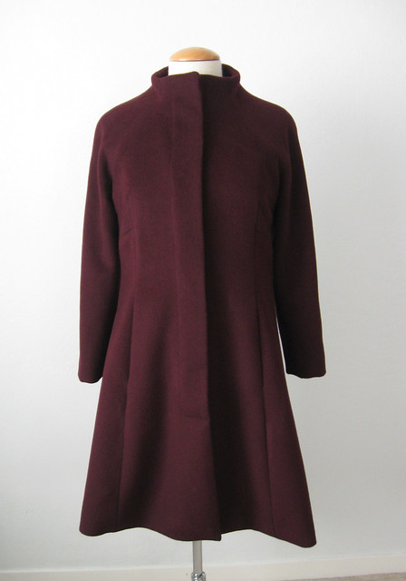 Merlot coat front full length
