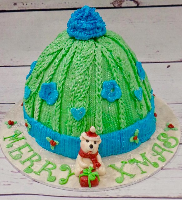 Woolly Hat Cake from Rhona mcHale of Cake Creations by Rhona