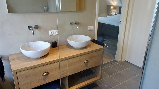 Badkamer aan de slaapkamer landelijke stijl