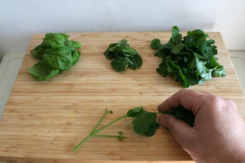 21 - Blätter von Stielen zupfen / Pick leafes from stalks