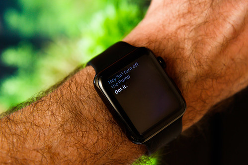 Apple Watch control of smart plugs for aquarium automation