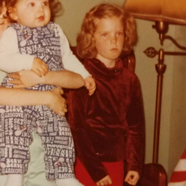 Throwback to that time when I was really grumpy about something (and when my brother had crazy overalls) #tbt #throwback #velourturtleneck #clenchedfists #donttakemypicture