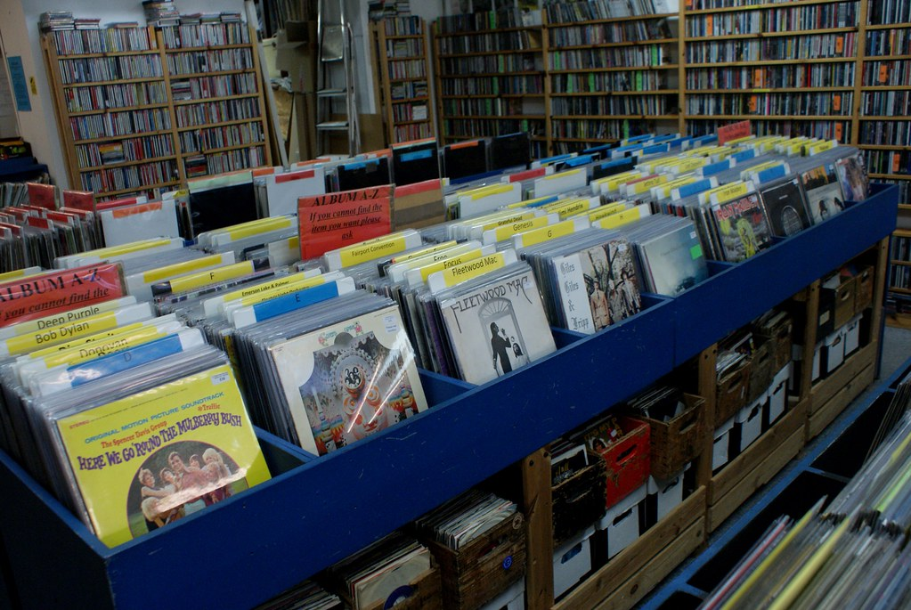 Plastic wax records, l'un des nombreux disquaires de Bristol.
