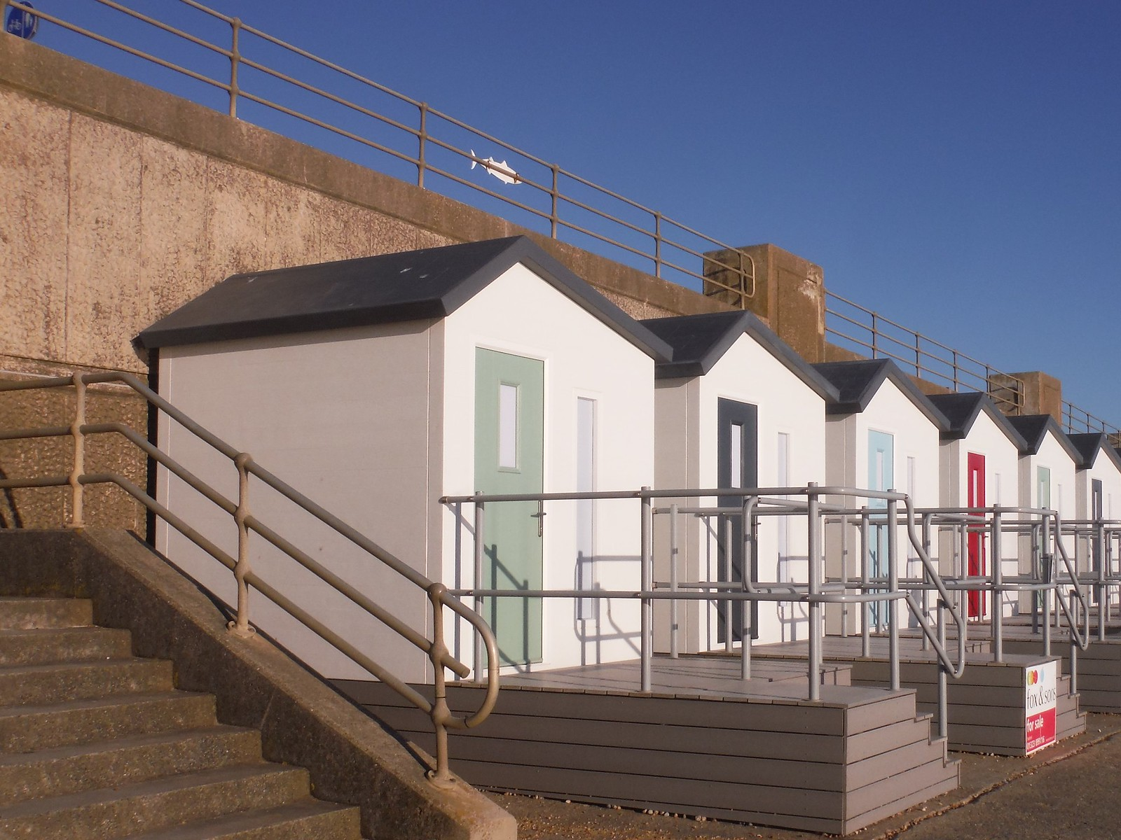 Beach Huts, Seaford SWC Walk 181 - Lewes to Seaford via West Firle