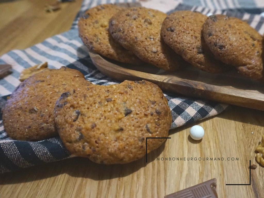 Cookies au chocolat des caraibes et noix de pécan selon cyril lignac