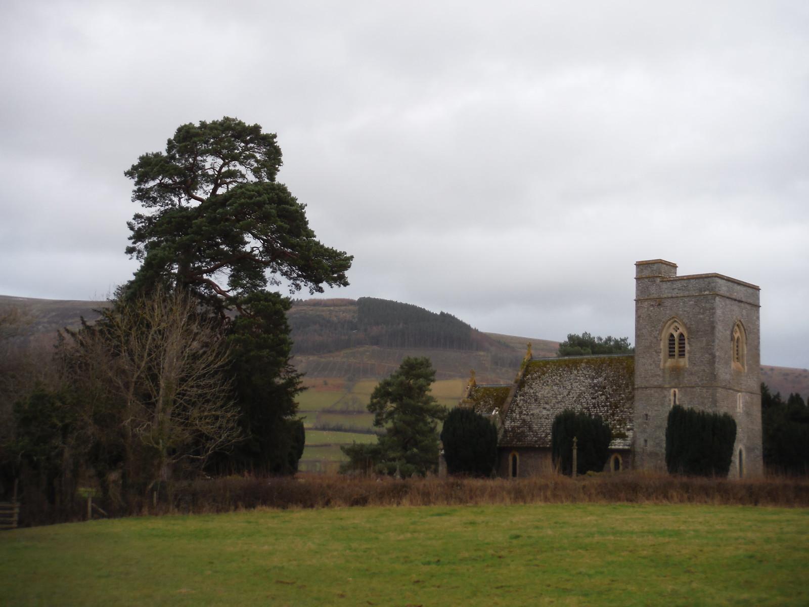 St. Gastyn's Church, Llangasty-Talyllyn SWC Walk 308 - Bwlch Circular (via Mynydd Troed and Llangorse Lake)